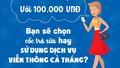 Với 100.000 VNĐ bạn sẽ chọn cốc trà sữa hay sử dụng dịch vụ viễn thông cả tháng?
