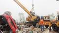 Xe khách Thái Bình lật ở Hà Tĩnh, 2 người chết, hơn 10 người bị thương