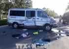 Ô tô chở khách bị tông lộn nhiều vòng, cháu bé văng ra đường tử vong