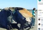 Xôn xao về vật thể lạ nghi máy bay ngoài hành tinh dạt vào bờ biển Mỹ
