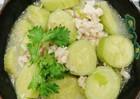Nấu canh chuối xanh nấu tôm đơn giản mà thơm ngon