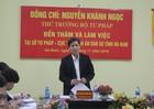 Thứ trưởng Nguyễn Khánh Ngọc: Tư pháp và Thi hành án dân sự Hà Nam cần có sự bứt phá hơn