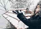 Du khách Việt đi ngắm tuyết và làm từ thiện