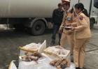 Thanh Hóa: CSGT phát hiện gần 3 tạ thực phẩm bẩn trên đường đi tiêu thụ
