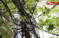 """Báo động tình trạng lưới điện """"giăng mạng nhện"""" ở khu dân cư"""