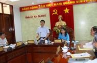 Bộ trưởng Lê Thành Long làm việc tại An Giang