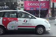 TP.HCM: Vinasun yêu cầu tài xế tháo biểu ngữ phản đối Grab, Uber