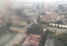 Cháy lớn tại số 5 Phan Kế Bính, quận Ba Đình