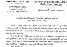 Bộ GD&ĐT yêu cầu rà soát kết quả thi THPT quốc gia bất thường tại Hà Giang