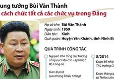 Vì sao Trung tướng Bùi Văn Thành bị Bộ Chính trị kỷ luật?