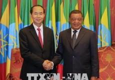 Chủ tịch nước Trần Đại Quang kết thúc chuyến thăm Ethiopia