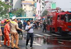 Kịp thời dập cháy tại khu tập thể cũ trên đường Tôn Thất Tùng
