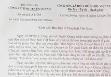 """Công an Tỉnh Tuyên Quang chấn chỉnh vụ  Huyện chỉ đạo nhưng xã """"bất tuân lệnh"""""""