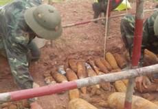 Quảng Trị: Phát hiện hầm bom đạn nằm dưới đất 2,5m