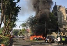 Toàn cảnh vụ đánh bom kinh hoàng ở Indonesia làm 13 người chết