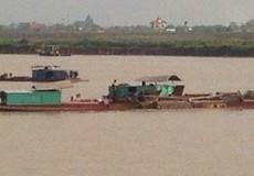 Cty CP Thủy sản Xuân Thủy tiếp tục khai thác cát sai phép trên sông Hồng