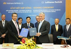 Vietnam Airlines và Lufthansa Technik hợp tác bảo dưỡng động cơ phụ tàu bay Airbus A350