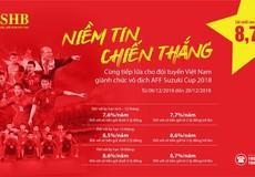 Trọn niềm tin chiến thắng cùng Đội tuyển Việt Nam: SHB tăng lãi suất lên đến 8,7%/năm