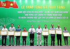 """Đồng Tháp: Tặng, truy tặng danh hiệu """"Bà mẹ Việt Nam anh hùng"""" cho 20 mẹ"""