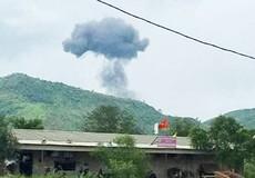 Hiện trường nơi xảy ra vụ rơi máy bay SU22 hai phi công hy sinh