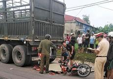 Tông xe đầu kéo, 1 người chết, 1 người bị thương