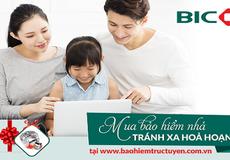 BIC ưu đãi lớn cho khách hàng mua bảo hiểm nhà trực tuyến