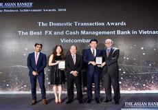 """Vietcombank được trao tặng 2 giải thưởng của """"The Asian Banker"""""""