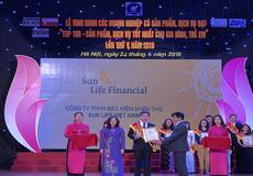 """Sun Life Việt Nam đạt danh hiệu """"Top 100 – Sản phẩm, dịch vụ tốt nhất cho gia đình, trẻ em"""" năm 2018"""