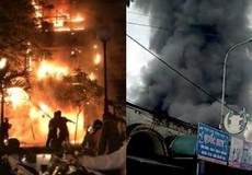 Cháy lớn ở 2 khu buôn bán sầm uất tại Hà Nội và TP HCM