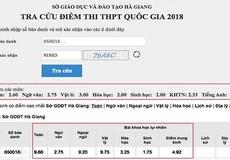 Ba thí sinh điểm cao nhất ở Hà Giang bị hạ điểm
