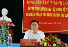 Bộ trưởng Lê Thành Long thăm và làm việc tại Sở Tư pháp Quảng Trị
