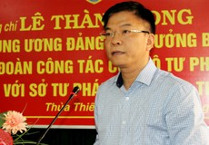 Bộ trưởng Lê Thành Long đánh giá cao kết quả công tác của Tư pháp Thừa Thiên Huế
