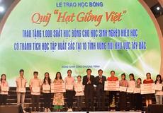"""""""Quỹ Hạt Giống Việt"""" trao tặng 1000 suất học bổng cho học sinh 10 tỉnh Miền núi phía Bắc"""