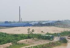 Công ty CP gạch Đại Hoàng ngang nhiên coi thường pháp luật, xây dựng nhà xưởng trên hành lang thoát lũ?