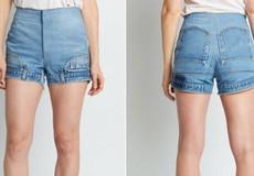 Quần jeans lộn ngược táo bạo gây xôn xao giới thời trang