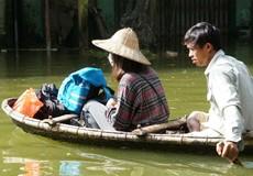 Vùng ngập ở Chương Mỹ (Hà Nội): Lo ô nhiễm môi trường, bùng phát dịch bệnh
