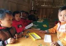 Trẻ em học mẫu giáo 5 tuổi vùng khó khăn được miễn học phí