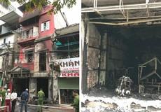 Cháy ngôi nhà 4 tầng trên phố Đặng Tiến Đông khiến hai người bị thương