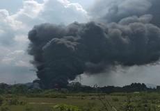 Cháy lớn tại nhà xưởng sản xuất bàn ghế mây