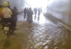Đà Nẵng: Công trình hầm chui 120 tỷ đồng ngập lênh láng dù trời nắng