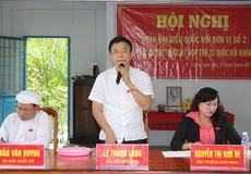 Bộ Trưởng Lê Thành Long tiếp xúc cử tri tại Kiên Giang: Tiếp tục đồng hành cùng cử tri