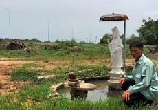 """Dự án """"lừa dưới, dối trên"""" của Dona.Coop: Bức tượng Phật còn sót lại trên vùng đất bị """"phá sạch, lấp sạch"""""""