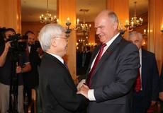 Tổng Bí thư Nguyễn Phú Trọng tiếp Chủ tịch Đảng Cộng sản Nga