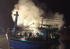 Nghệ An: Cháy tàu cá thiệt hại hàng tỷ đồng