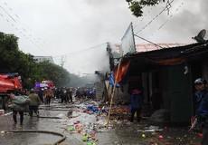 Cháy kho hàng chợ Vinh