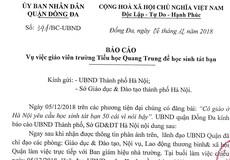 Lập đoàn thanh tra xác minh vụ nam sinh Hà Nội bị phạt tát 50 cái