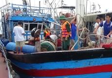 Cứu sống 5 ngư dân cùng tàu cá gặp nạn trên biển  