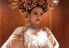 Đại diện Việt Nam giành huy chương vàng phần thi trang phục dân tộc tại Hoa hậu Trái đất 2018