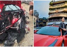 Tuấn Hưng mời hai chuyên gia từ Đức về kiểm tra siêu xe Ferrari mới gặp nạn