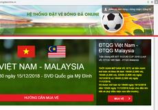 Liên đoàn bóng đá cảnh báo trang web giả mạo đặt vé chung kết AFF Cup